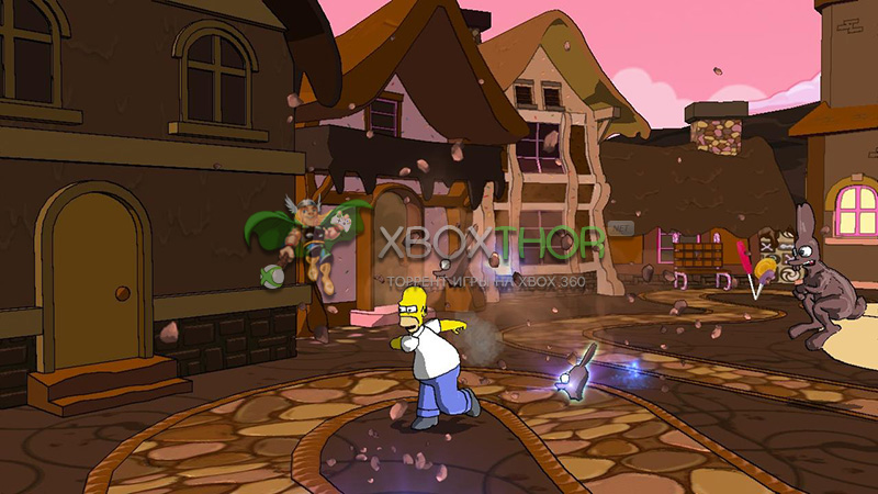 Скачать торрент The Simpsons Game [FREEBOOT/RUS] на xbox 360 без регистрации